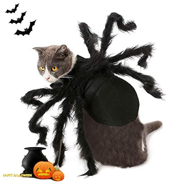 Spider Costume for Cat, Christmas Costume for Dogs Cats, Pet Party Funny  Horror Costumes,Adjustable size,Best Gift for cat and small dog
